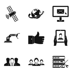repair of data center icons set simple style vector image vector image