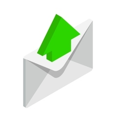 Sending email icon isometric 3d style vector image