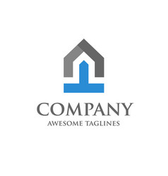 start up of real estate logo design vector image vector image