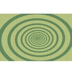 The green spiral pop art background vector