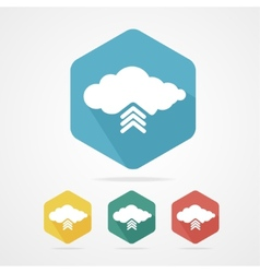 Upload from cloud icon set vector image vector image