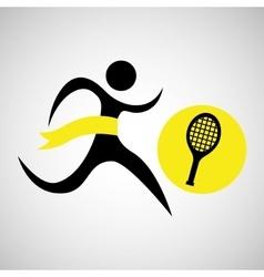 winner silhouette sport tennis icon vector image vector image