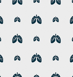 Lungs sign Seamless pattern with geometric texture vector image