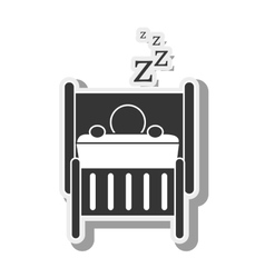 Silhouette person sleep rest vector
