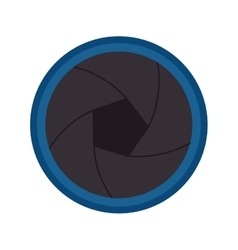 Camera photographic lens isolated icon vector