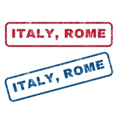 Italy rome rubber stamps vector