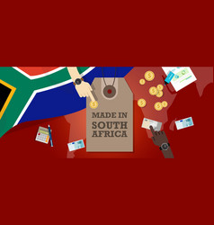 Made in south africa price tag badge vector