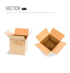 Collection of cardboard boxes vector
