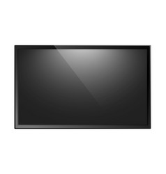 Tv screen isolated vector