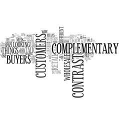Wholesale buyers versus retail customers text vector
