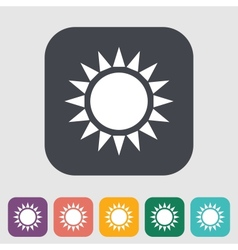 Sun single flat icon vector