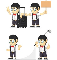 Nerd boy customizable mascot 15 vector