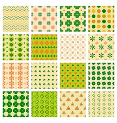 Seamless patterns with clover vector
