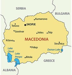 Republic of macedonia - map vector
