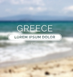 Greece sea old retro defocused summer beach vector