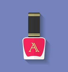 Nail polish nail varnish icon flat style vector