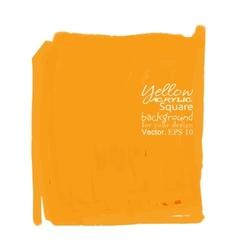 Yellow acrylic square vector