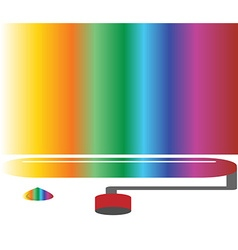 Coloured rainbow art concept vector