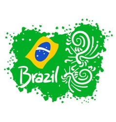 Brazil paint art vector