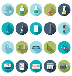 Chemical icons flat design vector