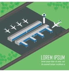 Airport Terminal in format vector image