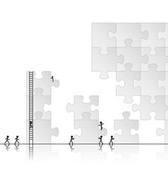 building a puzzle vector image