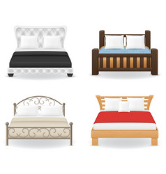 Set bed vector