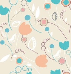 Simple colorful seamless flourish pattern vector