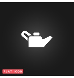 Engine oil single flat icon vector