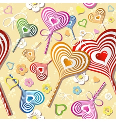 Sweet heart pattern old paper art vector