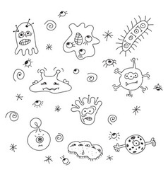 Germs and bacteria vector