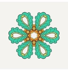 mandala Mehndi lace tattoo Oriental weave vector image