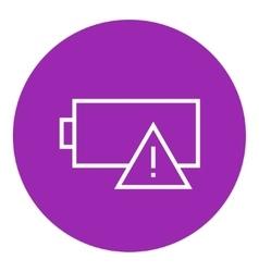 Empty battery line icon vector