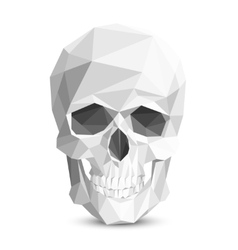 Colorful geometric low poly skull vector image