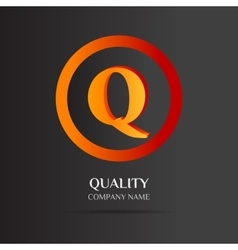 Q letter logo abstract design vector