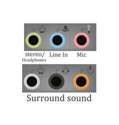 all sound input output vector image vector image