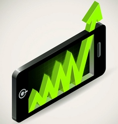 Arrow graph up chart showing success business grow vector