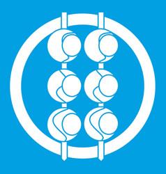 Asian shashlik icon white vector