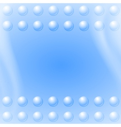 Bubbles on blue wave background vector