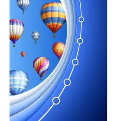 Business Background with Balloons vector image vector image