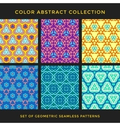 color abstract seamless pattern set vector image vector image