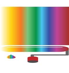 Coloured rainbow art concept vector