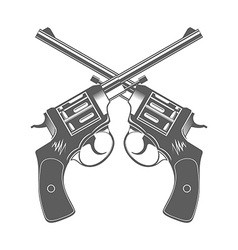 Crossed guns isolated design elements vector
