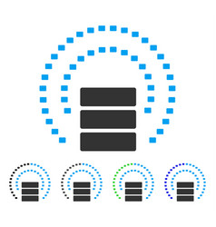 Database sphere shield flat icon vector