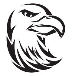 Eagle head tatoo vintage engraving vector