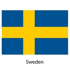 Flag of the country sweden vector image