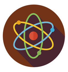 Flat Education and Science Sign Circle Icon with vector image