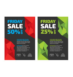 friday sale flayer template vector image vector image