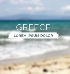 Greece sea old retro defocused summer beach vector