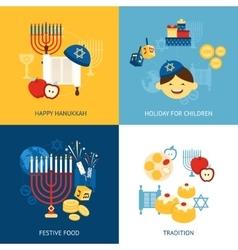 Hanukkah Design Concept vector image